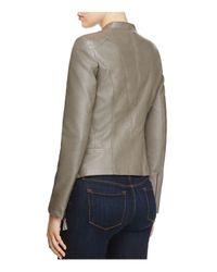PPLA Gray Etta Faux-leather Jacket