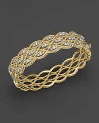 Roberto Coin - Metallic 18k Yellow And White Gold New Barocco Diamond Bangle - Lyst