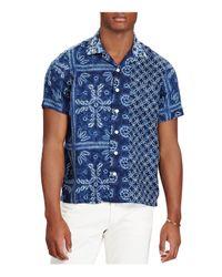 Polo Ralph Lauren - Blue Classic Fit Button-down Camp Shirt for Men - Lyst