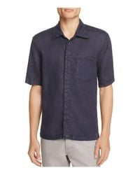 Blank NYC - Blue Cotton-linen Slim Fit Button-down Shirt for Men - Lyst