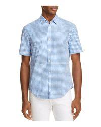 BOSS Green - Blue C-bustaino Check Regular Fit Button-down Shirt for Men - Lyst