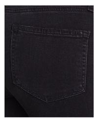 PAIGE - Hoxton Step-hem Skinny Ankle Jeans In Black Sky Destructed - Lyst