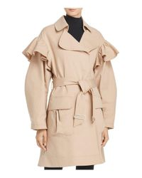 Rebecca Taylor - Natural Ruffle Trench Coat - Lyst