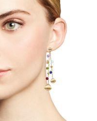 Marco Bicego - Metallic 18k Yellow Gold Paradise Teardrop Long Double Strand Gemstone Earrings - Lyst