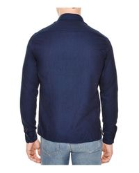 Sandro - Blue Indiana Slim Fit Button-down Shirt for Men - Lyst