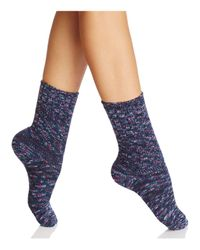 Hue | Blue Super-soft Ribbed Boot Socks | Lyst