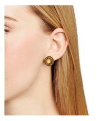 Sorrelli - Yellow Stud Earrings - Lyst