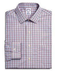 Brooks Brothers - White Small Windowpane Check Classic Fit Dress Shirt for Men - Lyst