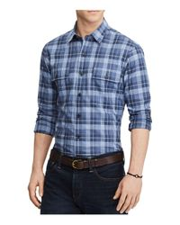 Polo Ralph Lauren - Blue Plaid Casual Button-down Cotton Shirt for Men - Lyst