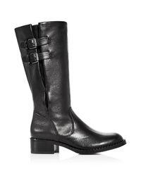 Gentle Souls - Black Women's Brian Leather Low Heel Boots - Lyst