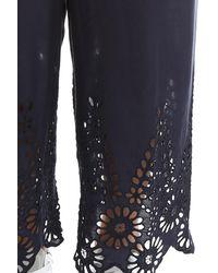 Ganni - Multicolor Yoko Lace Pants - Lyst