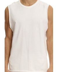 T By Alexander Wang - White Cotton Polyester Sweat Top for Men - Lyst