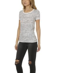 ATM - White Atm Raw Edge Crew Shirt - Lyst