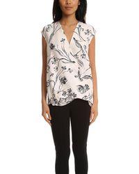 3.1 Phillip Lim - Multicolor Floral Print Soft Draped Sleeveless Blouse - Lyst
