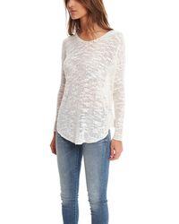 Helmut Lang - White Silk Pullover - Lyst