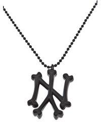 SSUR   Black Ny Bones Necklace for Men   Lyst