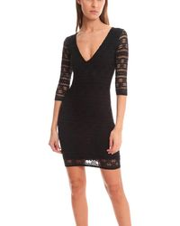 Nightcap - Black Cherokee Deep V Dress - Lyst