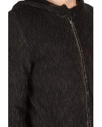 Avant Toi - Black Hooded Zip Cardigan for Men - Lyst