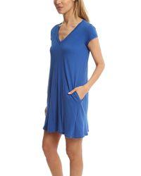 Current/Elliott - Blue V Neck Trapeze Dress - Lyst
