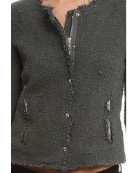 IRO - Gray Agnette Jacket - Lyst