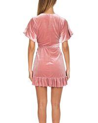 MISA - Pink Desma Velvet Dress - Lyst