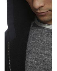 Vince - Black Sherpa Lined Hooded Jacket for Men - Lyst