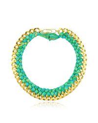 Aurelie Bidermann - Women's Green Metal Necklace - Lyst
