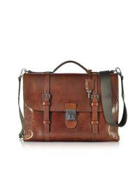 The Bridge - Men's Brown Leather Briefcase for Men - Lyst