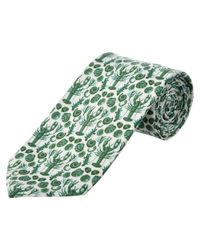 Cole Haan - Green Clam Bake Silk-blend Tie for Men - Lyst