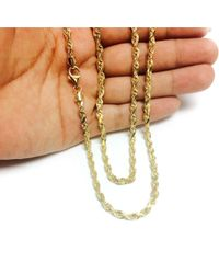 JewelryAffairs - 14k Yellow Gold Solid Diamond Cut Royal Rope Chain Necklace, 5.0mm, 24 Inch - Lyst