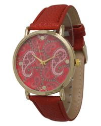 Olivia Pratt - Multicolor Classic Paisley Leather Strap Watch - Lyst