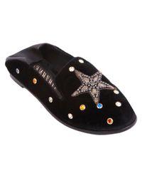 Ivy Kirzhner - Black Embellished Studded Loafer - Lyst