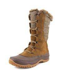 The North Face - Nuptse Purna Men Round Toe Suede Brown Snow Boot for Men - Lyst