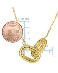 JewelryAffairs - 14k Yellow Gold Interconnected Oval Charms Necklace, 18 - Lyst