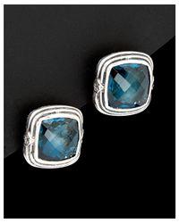Scott Kay - Metallic Silver Diamond & Topaz Earrings - Lyst