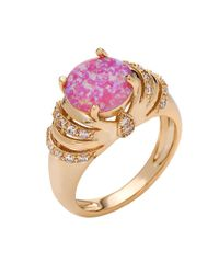 Peermont - Metallic 18k Gold Plated And Pin. K Opal Statement Ring - Lyst