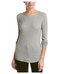 Vince - Gray Shirttail Top - Lyst