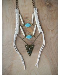 Love Leather - Multicolor Warrior Necklace - Lyst