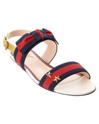 Gucci - Multicolor Grosgrain Web Sandal - Lyst