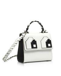 Les Petits Joueurs - Women's White Leather Handbag - Lyst