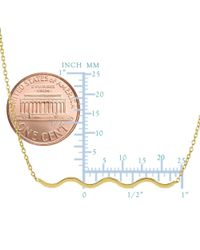 JewelryAffairs - 14k Yellow Gold Wave Charm Pendant Necklace, 18 - Lyst