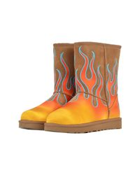 Ugg - Women's Orange Suede Ankle Boots - Lyst