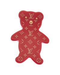 Louis Vuitton | Red Acrylic Teddy Bear Brooch | Lyst