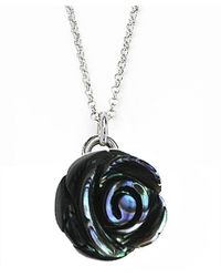 Jan Leslie | Metallic Large Gemstone Rose Pendant / Charm Necklace | Lyst