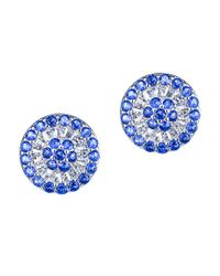 CZ by Kenneth Jay Lane | Blue 6cttw Multi Cz Ears | Lyst