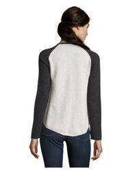 27 Miles Malibu - Black Long Sleeve Patricia Skull Crewneck Cashmere Sweater - Lyst