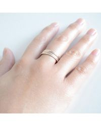 Olive Yew - Metallic Mixed Stack Rings - Lyst