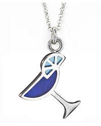 Jan Leslie | Blue Martini Glass Pendant / Charm Necklace | Lyst