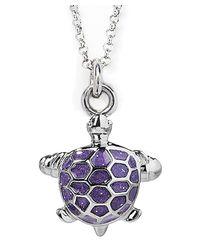 Jan Leslie - Purple Enamel Turtle Pendant / Charm Necklace - Lyst