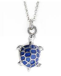 Jan Leslie | Blue Enamel Turtle Pendant / Charm Necklace | Lyst